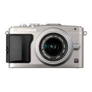 """Olympus PEN E-PL5 Cámara EVIL de 17.2 Mp (pantalla 3"""", estabilizador óptico, vídeo Full HD) plateado -Objetivo II R 14-42mm f/3.5"""