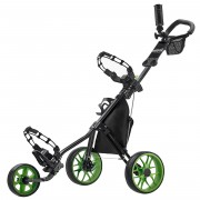 CaddyTek SuperLite V3 Deluxe Golf Buggy / Push Cart - Red