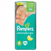 Scutece Pampers Active Baby 6 Giant Pack 56 buc