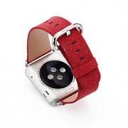 glittery luxo bling do natal pu banda relógio de couro para relógio de maçã 38/42 milímetros cinta iWatch