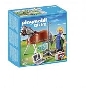 Playmobil Veterinaria - Caballo con técnico de rayos X, playset (5533)
