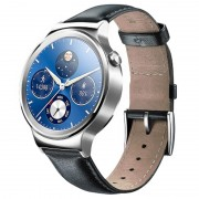 Smartwatch Huawei Watch G-00 - Pulseira de Couro - Prateado / Preto