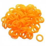 ThreeBulls 120Pcs Rubber O-Ring Switch Dampeners Keycap Orange For Cherry MX Key Switch Keyboards Dampers