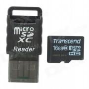Transcend Class 10 16GB TF Card + Card Reader Set - Black (16GB)