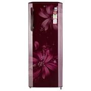 LG 270 L 5 Star Direct-Cool Single Door Refrigerator (GL-B281BSAN.DSAZEBN, Scarlet Aster)