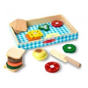 Melissa & Doug 17 Piece Sandwich Making Play Set 513