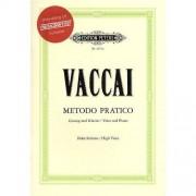 Edition Peters Nicola Vaccai: Metodo Pratico (High Voice) (Book/CD). Partituras, CD para Voz Alta, Acompañamiento de Piano