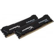 HX424C12SBK2/8 8GB 2400MHz DDR4 CL12 DIMM (Kit of 2) XMP HyperX Savage Black