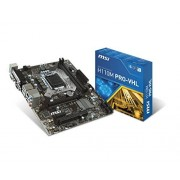 MSI H110M PRO-VHL Carte mère Intel M-ATX Socket LGA 1151