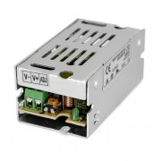 12V 1A 12W Aluminum Casing Switching Power Supply for Security / LED Light Strip - Silver