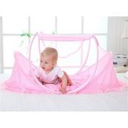 Instant portátil transpirable viaje tienda de campaña para bebés, playa Play tienda de campaña, cama parque de juegos - Keep de insectos y mosquitos aire - y espacio suficiente para bebés rosa