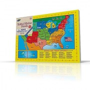 USA Map Puzzle for Toddlers 17 Pc Large Size US States with Cute Pictures on it Ideal for Boys/Girls with 3+ Years of Age Smart Learning and Development Jigsaw Puzzle Toy/Game Great Gift Idea.
