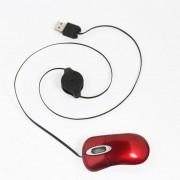 Onloon Rojo Mini USB Ratón óptico De Retráctil De PC Con Rueda De Desplazamiento Para Niños