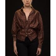 Ajrakh Print Silk Shirt