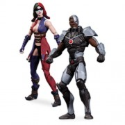 Dc Collectibles Injustice Cyborg Vs. Harley Quinn Action Figure (2-Pack)