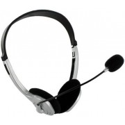 Casti 4World 02994, Stereo, cu microfon, 1.8m (Argintii)