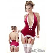 Cottelli - Vianočné šaty a podväzkom na pančuchy