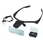 Szemüveg nagyító fejpánttal Led lámpával 5db cserélhető nagyítóval - No.9892B