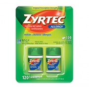 ZYRTEC (24 Hour Allergy Relief) 10mg 100 Tablets