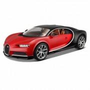 Modèle Réduit : Bugatti Chiron Rouge : Echelle 1/18