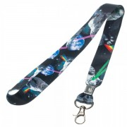 Generic Space Cat Lanyard Accessories