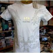 Angel Devil T-shirt uomo Angel Devil in cotone con stampa e logo argento