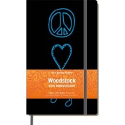 Moleskine srl Woodstock Moleskine Large Ruled Notebook: Peace, Love, Music