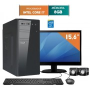 COMPUTADOR EASYPC CORE I7 8GB RAM HD 1TB WIN 10 LED 15