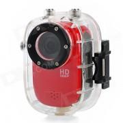 sj1000 5MP CMOS 1080p HD 140 degré 30m Etanche Sport Cyclisme plongée DVR w / HDMI / TF - rouge