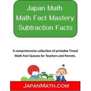 Japan Math Math Fact Mastery Subtraction Facts by Jody Weissler