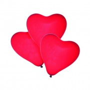 Baloane Forma Inima Rosie Set 50