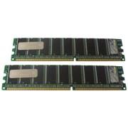 Hypertec HYMDL9502G - Kit di memoria DIMM PC2700 ECC equivalente Dell, 2 GB (2 x 1 GB)