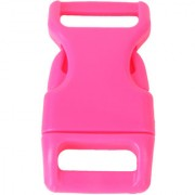 10pcs 5/8 Side Release Plastic Buckles for 0.6 Webbing Straps Deep Pink