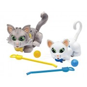 "Pet Parade ""Shorthair And Siberian"" Kitten Toy (Pack Of 2, White/Grey)"