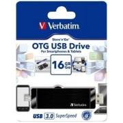 Verbatim Hybrid OTG 16 GB Pen Drive(Black)