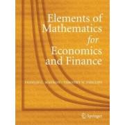 Elements of Mathematics for Economics and Finance by Vassili Mavron