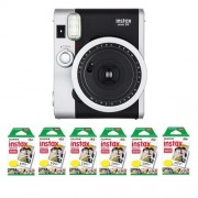 Fujifilm FU64-INSM9K060 Fujifilm INSTAX MINI 90 NEO CLASSIC Camera and Film Kit, 60 Exposures (Black/ Silver)