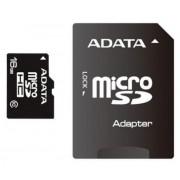 Secure Digital Card micro SDHC 16GB class10 ADATA, adaptor SD (AUSDH16GUICL10-RA1)