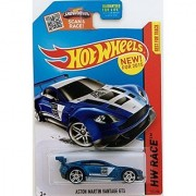 Hot Wheels 2015 HW Race Aston Martin Vantage GT3 [Blue] Die-Cast Vehicle #149/250 1:64 Scale