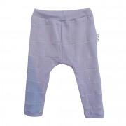 Pantaloni mov bebe, patchwork si cusatura decorativa