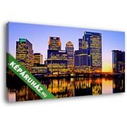London, a Canary Wharf kereskedelmi negyed (45x25 cm, Vászonkép )