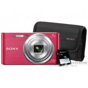 Aparat foto Sony DSC-W830, pink + 16GB SD + Sony tok