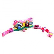 Mp3 Play House Princess Battery Operated Toy Doll Play Set W/ Flashing Light Melody Connect Your Mp3 And Play Your Own