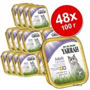 Yarrah Bio 48 x 100 г - бонус опаковка - хапчици: пиле и пуешко с алое вера