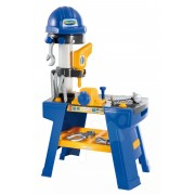 Écoiffier atelier de lucru cu cască de protecţie Mecanics 2475 albastru-galben