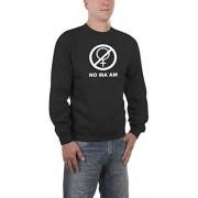 Touchlines Sweatshirt No Maam Al Bundy Sudadera para hombre, color negro, talla M