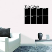 Krijtbord sticker weekdagen engels