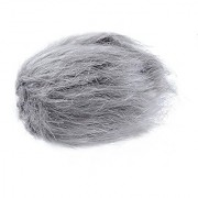 Movo WS1 Furry Outdoor Microphone Windscreen Muff for Small Compact Microphones up to 2.5 X 40mm (L x D) for the Zoom H1 Apogee MiC and More (Light Gray)
