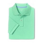 ランズエンド LANDS' END メンズ・ヘリテージ・ポロ/無地/半袖/ポロシャツ(アイシーグリーン)