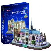Cubic Fun L173H - 3D Puzzle Cattedrale di Notre Dame con LED - Parigi - Francia